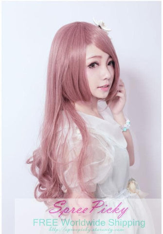 HARAJUKU Lolita pink young girl long curly wig SP130185 - SpreePicky  - 2