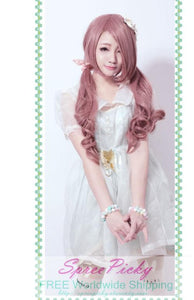 HARAJUKU Lolita pink young girl long curly wig SP130185 - SpreePicky  - 3