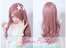 Load image into Gallery viewer, HARAJUKU Lolita pink young girl long curly wig SP130185 - SpreePicky  - 4