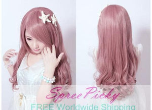 HARAJUKU Lolita pink young girl long curly wig SP130185 - SpreePicky  - 4