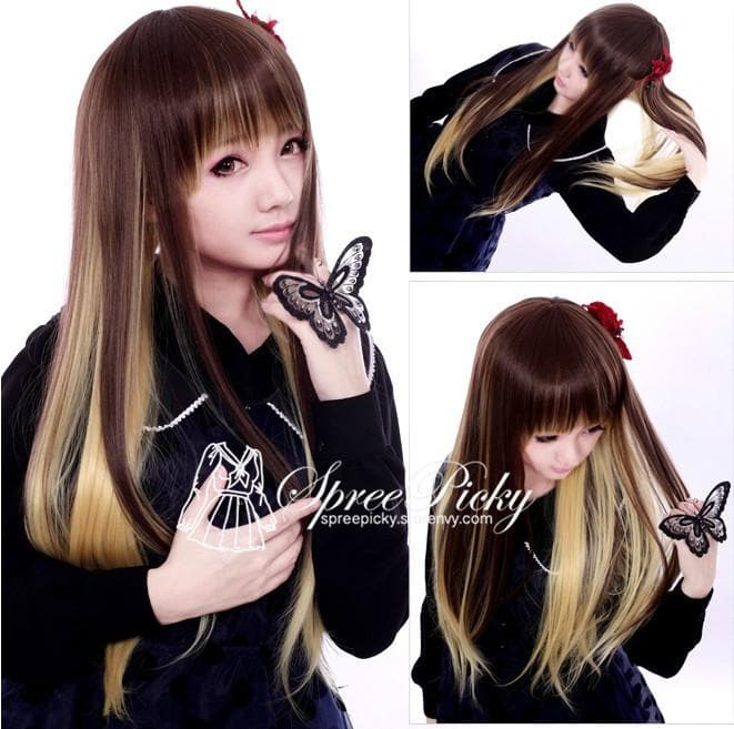HARAJUKU Lolita young girl brown wig SP130187 - SpreePicky  - 1