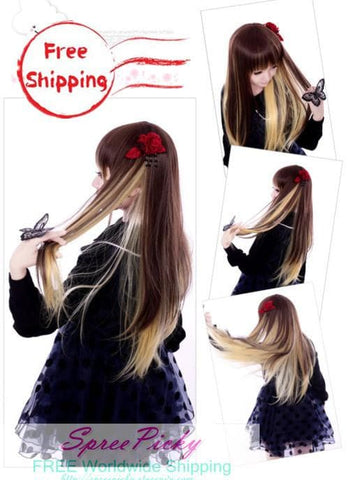 HARAJUKU Lolita young girl brown wig SP130187 - SpreePicky  - 3