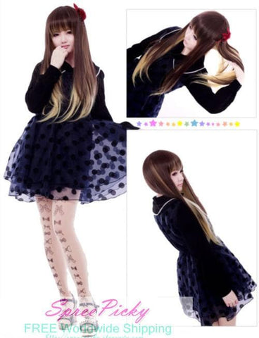 HARAJUKU Lolita young girl brown wig SP130187 - SpreePicky  - 4