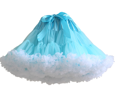 HIGH QUALITY Lolita Cosplay  Fluffy TUTU Dream Rainbow A shape Pettiskirt SP130218 - SpreePicky  - 5