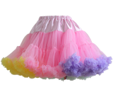 HIGH QUALITY Lolita Cosplay  Fluffy TUTU Dream Rainbow A shape Pettiskirt SP130218 - SpreePicky  - 9