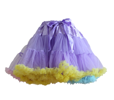 HIGH QUALITY Lolita Cosplay  Fluffy TUTU Dream Rainbow A shape Pettiskirt SP130218 - SpreePicky  - 11