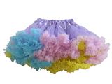 HIGH QUALITY Lolita Cosplay  Fluffy TUTU Dream Rainbow A shape Pettiskirt SP130218 - SpreePicky  - 13