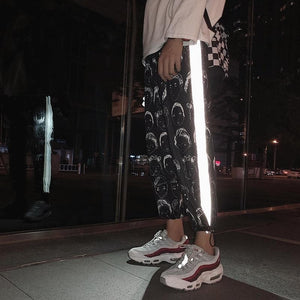 Reflective Harem Gothic Pants SP14719