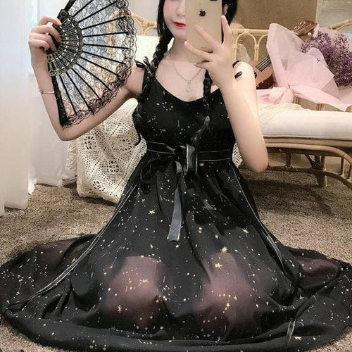 Sweet Starbright Lolita Slip Dress+Sun Protection Coat SP15812