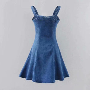 Denim Dresses A line Bodycon Sling Mini Dress SP14809