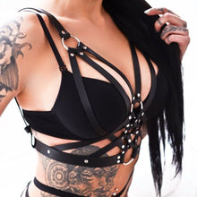 Load image into Gallery viewer, Halterneck Goth Harness SP13821