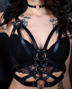 Halterneck Goth Harness SP13821