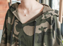 Load image into Gallery viewer, Harajuku Camouflage Midi Hoodie Shirt SP1710870