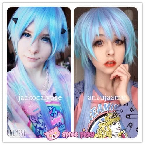 [Harajuku] Cosplay Gradual Blue and Purple Color Wig SP130189 - SpreePicky  - 1