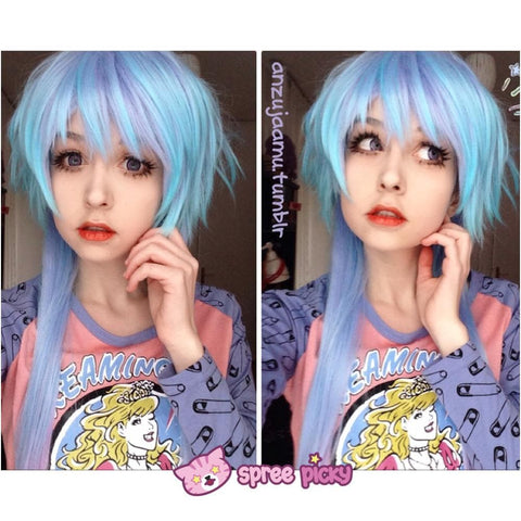 [Harajuku] Cosplay Gradual Blue and Purple Color Wig SP130189 - SpreePicky  - 2
