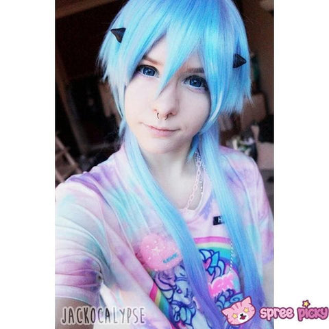 [Harajuku] Cosplay Gradual Blue and Purple Color Wig SP130189 - SpreePicky  - 3