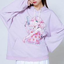 Load image into Gallery viewer, Harajuku Girls Couple Hoodie Sweater SP13335