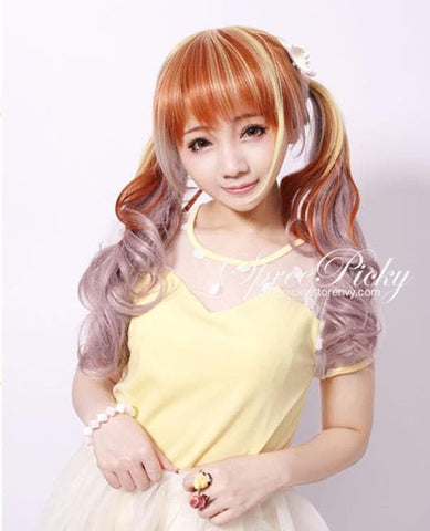 Harajuku Girly Honey Color Curly Wig SP130259 - SpreePicky  - 2
