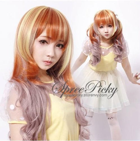 Harajuku Girly Honey Color Curly Wig SP130259 - SpreePicky  - 5