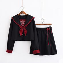 Load image into Gallery viewer, Harajuku Laced Bow Sailor Uniform Set SP13417