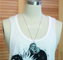 Load image into Gallery viewer, Harajuku Punk Original Design Handmade Transparent Glitter Heart Necklace SP130325 - SpreePicky  - 3