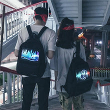 Load image into Gallery viewer, Harajuku Voice Control Light Backpack SP13620