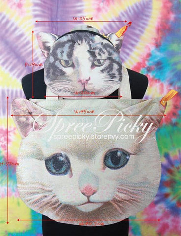 Harajuku Cool Cat 2 Pcs Set Shoulder Bags SP130182 - SpreePicky  - 3