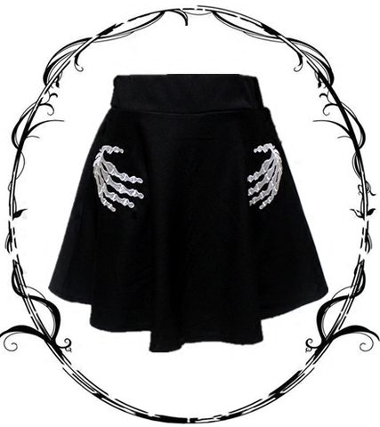 Harajuku Fashion Skeleton Hand T-shirt/Skirt/Dress