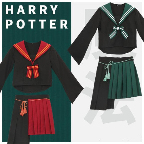 Harry Potter Slytherin/Gryffindor Sailor Uniform Set SP14316