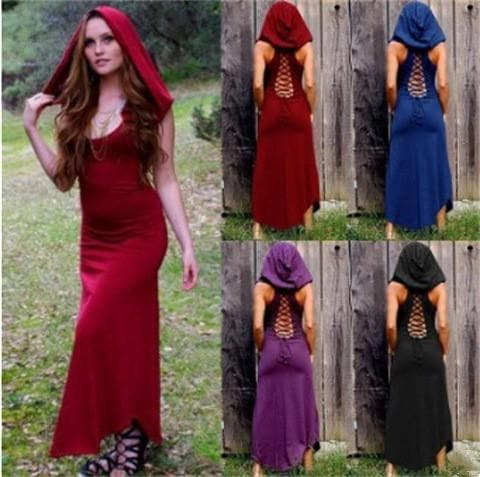 Hooded Sleeveless Cloak SP13834