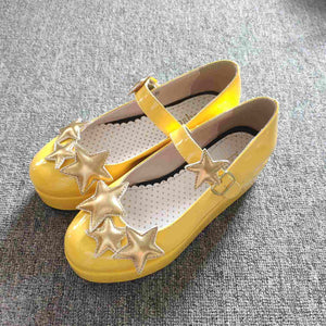 Yellow Card Captor Sakura Star Pattern Cosplay Shoes SP164889