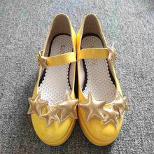 Load image into Gallery viewer, Yellow Card Captor Sakura Star Pattern Cosplay Shoes SP164889