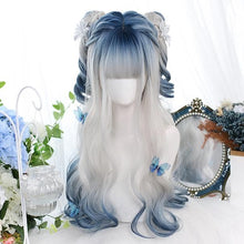 Load image into Gallery viewer, Grey Blue Mixed Ice Soft Lolita Girl Wig SP14971