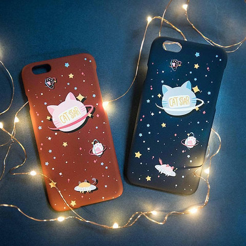 Japanese Kawaii Star Cat Iphone Phone Case SP1711042