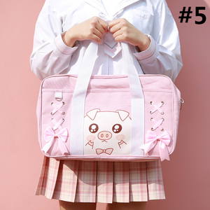 Kawaii Animal Pig Bear Cat Printing Bag SP13366