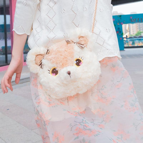 Kawaii Bear Bunny Plush Cross Body Bag SP13926