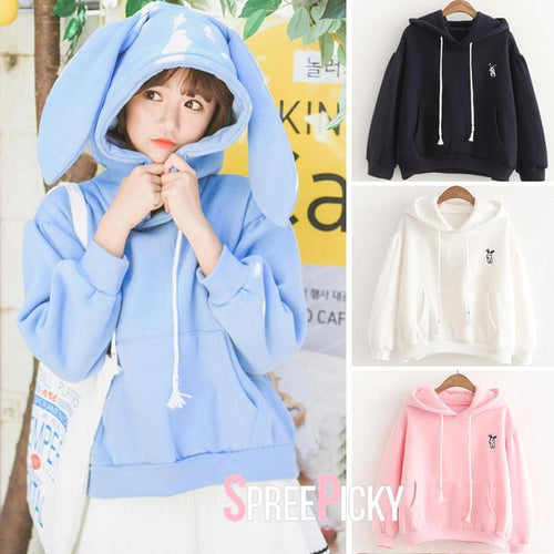 Kawaii Bunny Ear Hoodie Jumper SP1710709