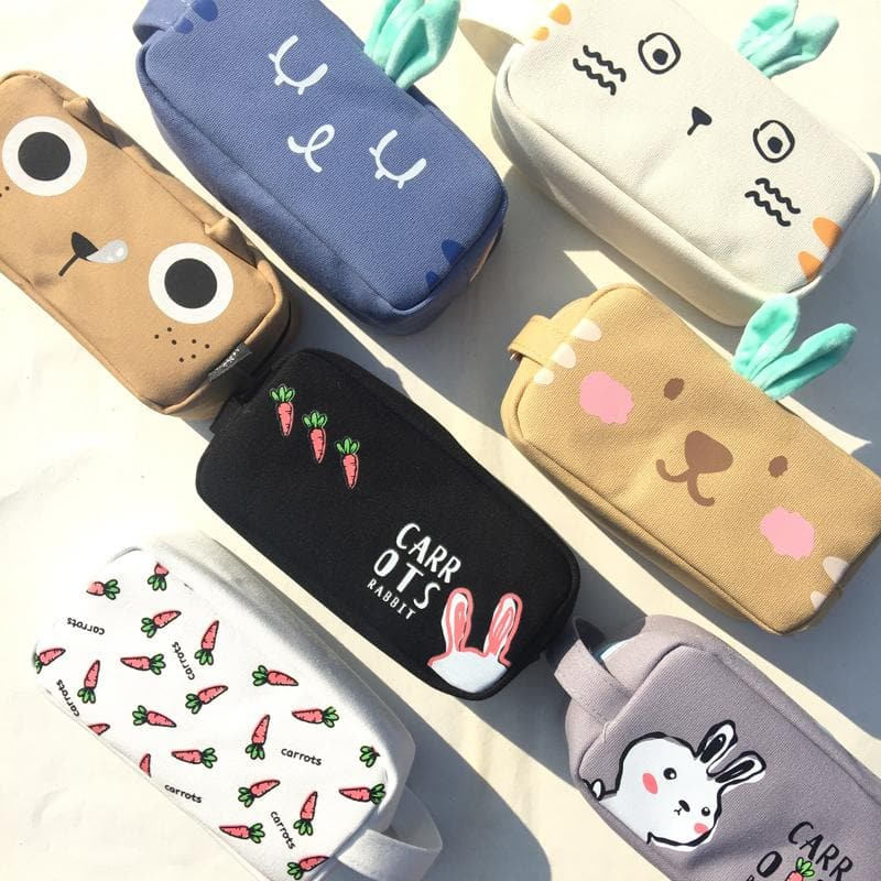 Kawaii Bunny Kitty Pencil Case S12729
