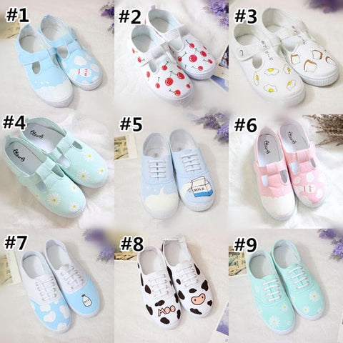 Kawaii Cartoon Printing Canvas Sneakers SP1711023