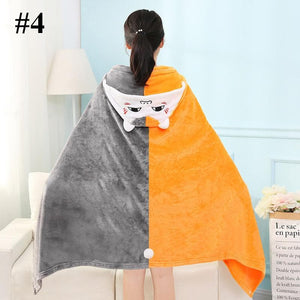 Kawaii Cartoon Velvet Hoodie Cape SP14181