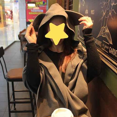 Kawaii Cat Ears Hoodie Poncho Cape SP1710875