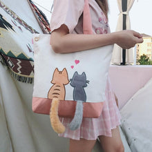Load image into Gallery viewer, Kawaii Cat Lovers Canvas Shoulder Bag SP14375