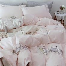 Load image into Gallery viewer, Kawaii Cat Printing Bedding Sheet SP14052