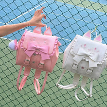 Load image into Gallery viewer, Pink/White Kawaii Cats Backpack S13131