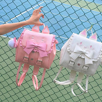 Pink/White Kawaii Cats Backpack S13131