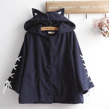 Load image into Gallery viewer, Kawaii Devil Ears Woolen Hoodie Coat SP14380