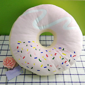 Brown/Pink Kawaii Donut Cushion SP165850