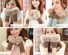 Load image into Gallery viewer, Kawaii Fluffy Knitting Open Gloves SP1711022