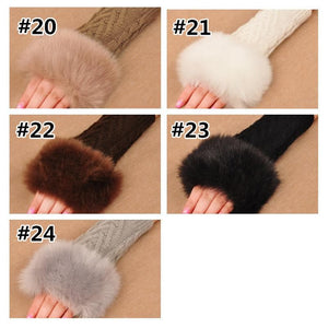 Kawaii Fluffy Knitting Open Gloves SP1711022