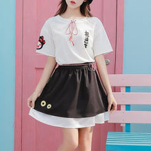 Load image into Gallery viewer, Kawaii Fortune Cat Shirt/Skirt Set SP13789